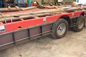 Low loader trailer modifications